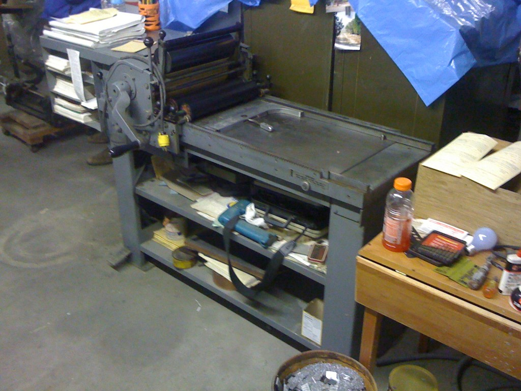 vandercook sp-15 at rowley press