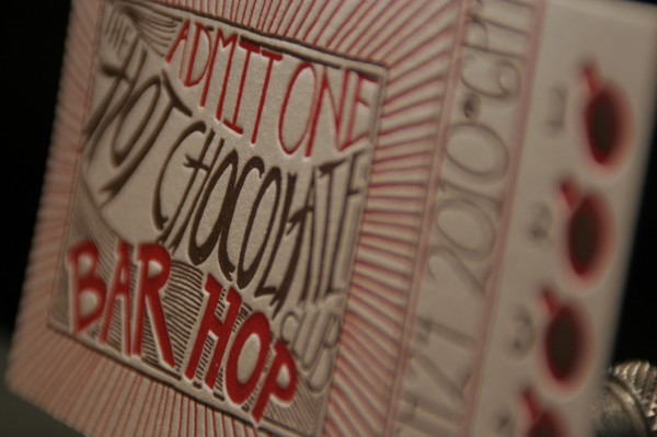 Letterpress Hot Chocolate Club
