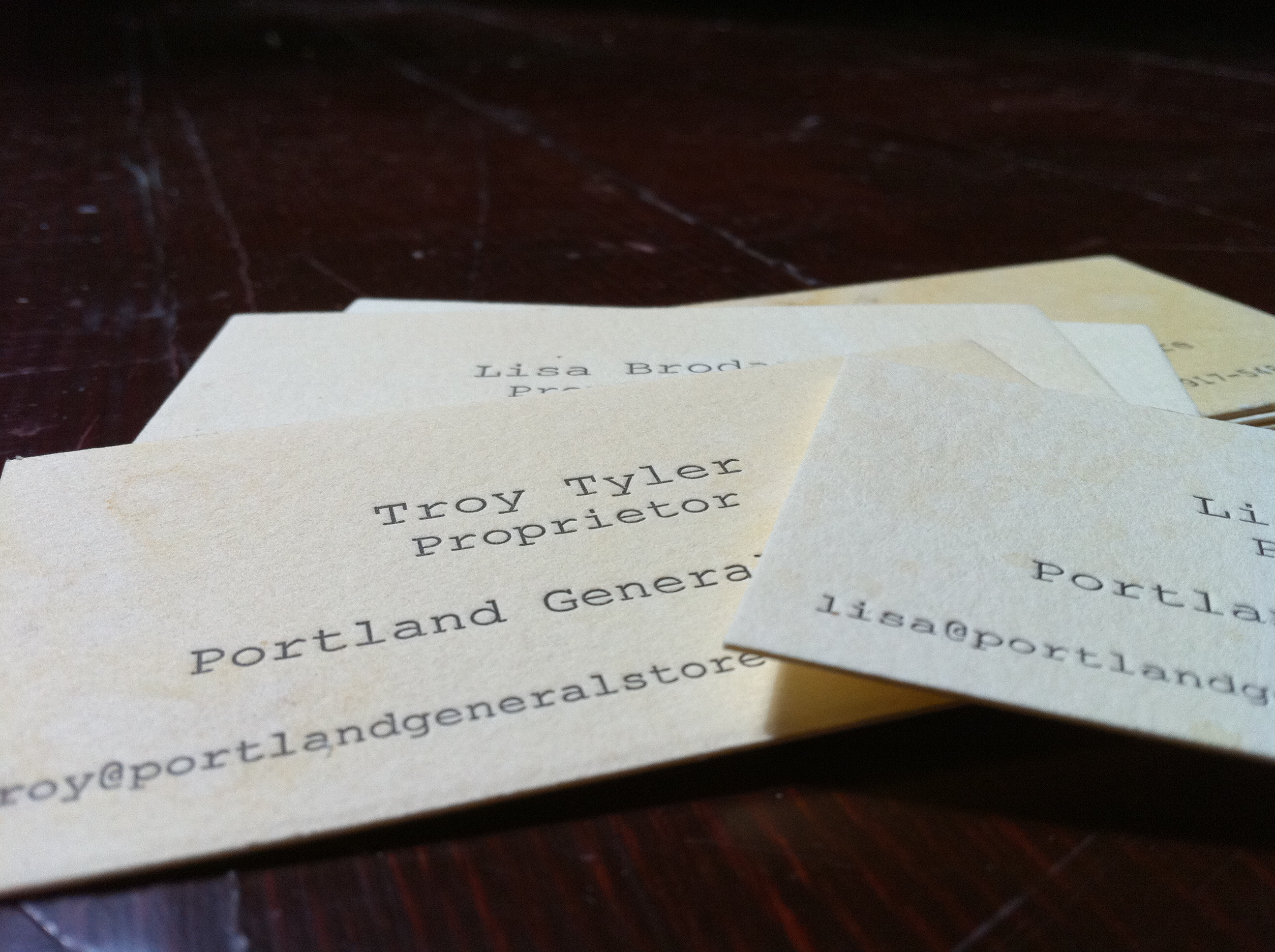 Portland General Store Business Cards