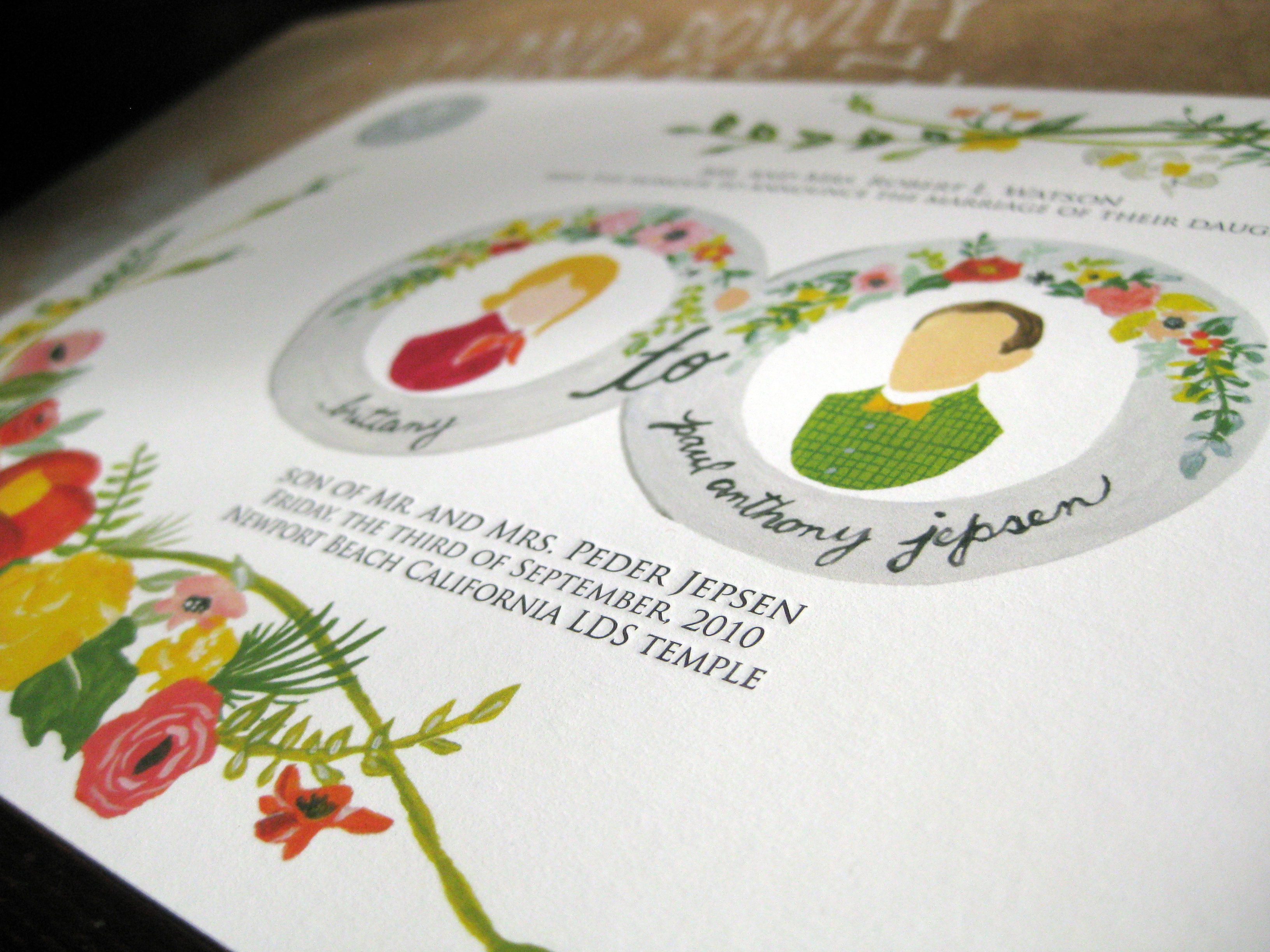 giclee and letterpress wedding invitations